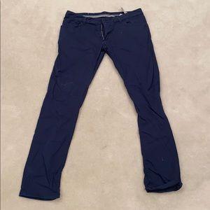 Zara navy blue chinos